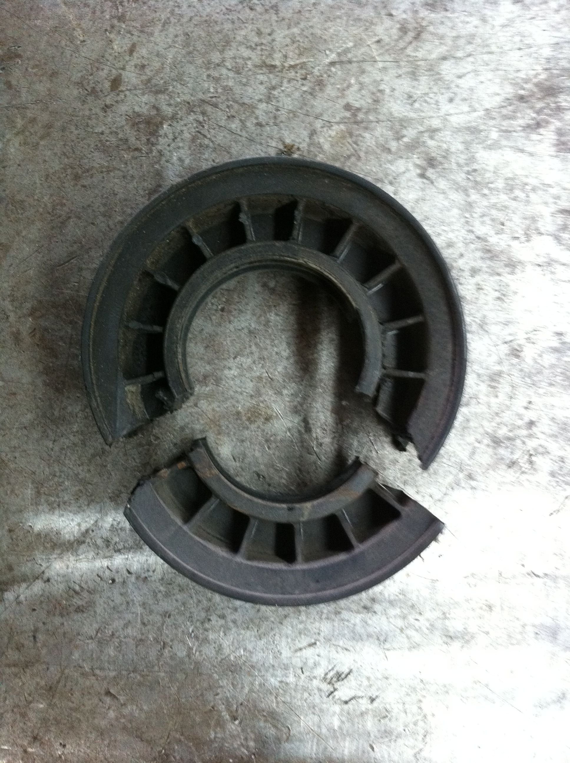 Broken Tensioner Pulley